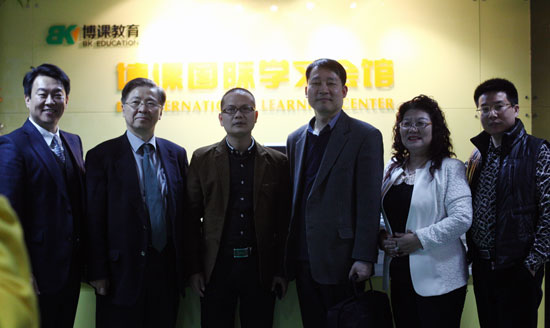 韩国G&E教育高管与托马斯高层合影