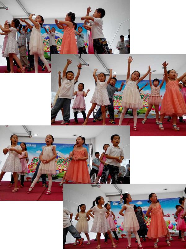 托马斯宝贝迎六一活动中A3班孩子们精彩表演