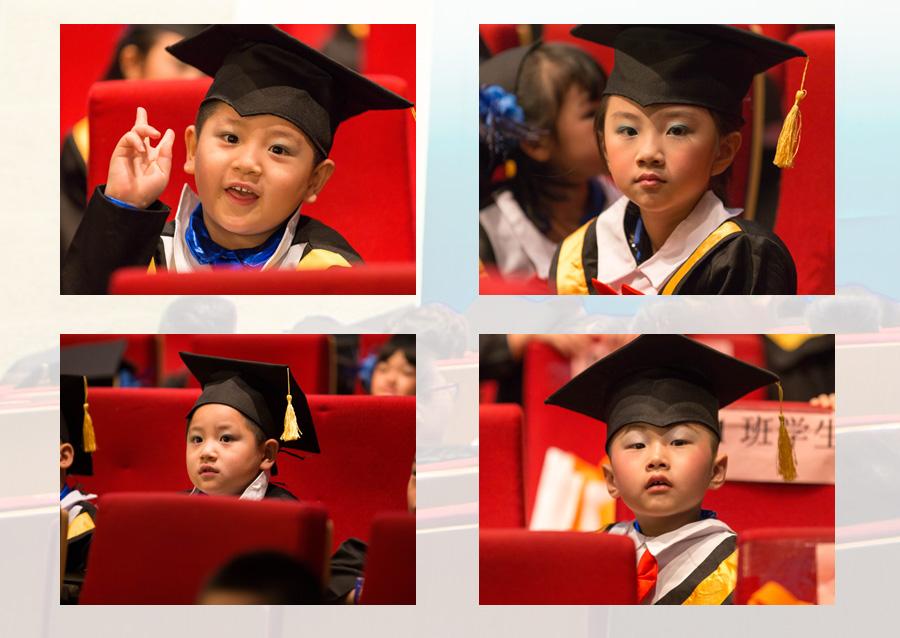 托马斯教育2014届STEAM课程毕业典礼上的宝贝们可爱面孔
